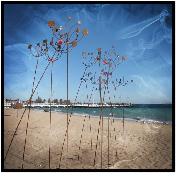 Beach Sculptures. 2015 set Eight by Jocelia