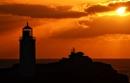 Sunset @ Godrevy Lighthouse by Psin