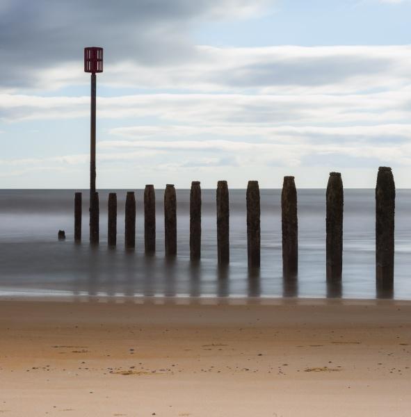 Blyth Beach Groin by Kim Walton