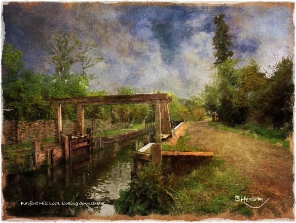 Flatford Mill Lock, looking downstream by Stuart1956