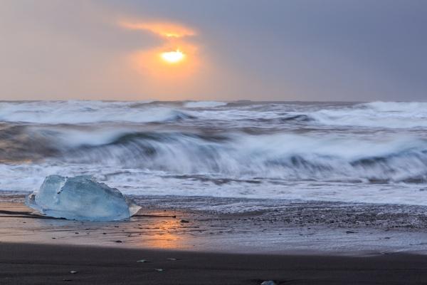 Ice beach South Iceland by SueLeonard