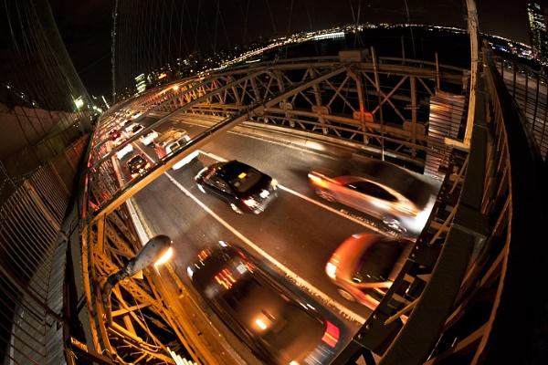 Brooklyn Bridge, Fish Eye by rontear
