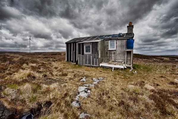 peat Cutters Hut, Isle of Lewis by pink