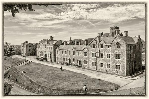 vintage Dover castle by mogobiker