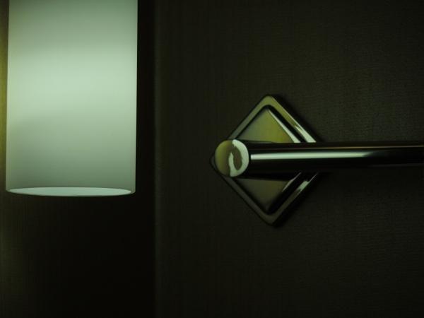 Towel bar, Best Western Hotel, Fresno California by Aldo Panzieri