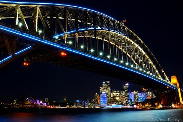 Sydney Harbour Bridge - Sydney Vivid Festival 2015 by AttractiveNerd