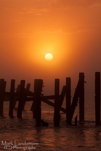 Solstice Sunrise in the Seafog by mlanda