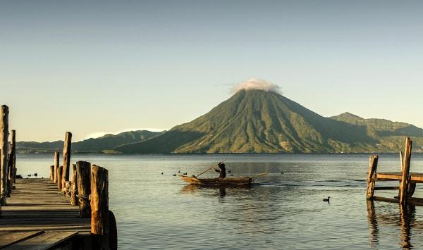 Fisherman on lake by JuanCarlos
