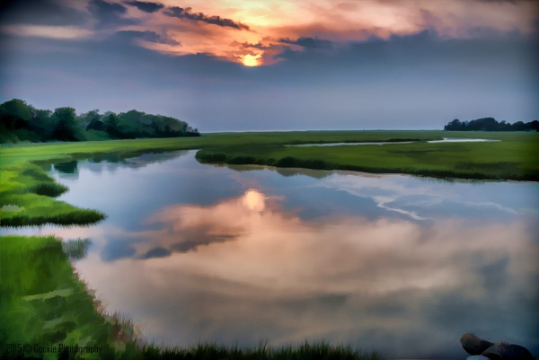 Sunset over the marshes by Cookie_Monster