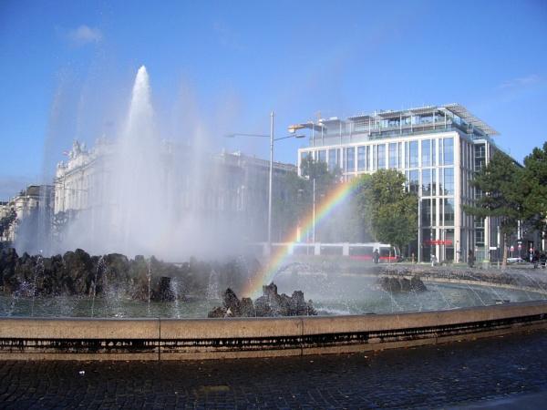 Fountain rainbow by ABesheva