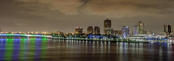 Long Beach Night Skyline by MunroWalker