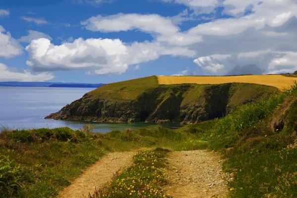 Clifftop path retro by jameswburke