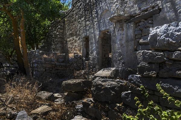 House Ruins in Micro Horio, Tilos. by steebi