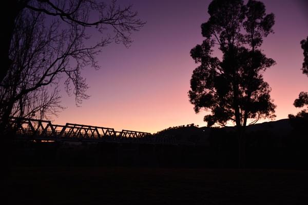 Bridge at dawn by imagism