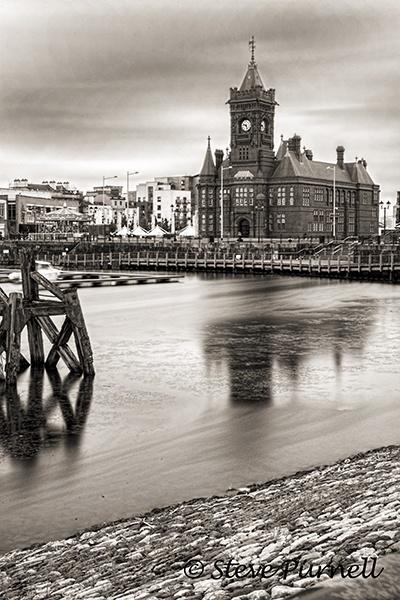 Pierhead Building Cardiff Bay Mono by silversnapper1