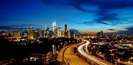 going home........Kuala Lumpur at sunset