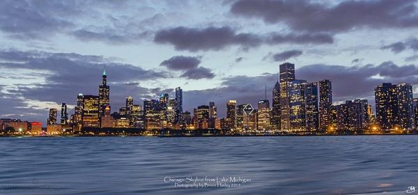 Chicago Skyline form Lake Michigan by MunroWalker