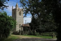"""""""Ketteringham Church Norfolk""""."""