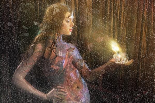 Rain and Magical Light by moerobinson