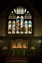 Alter and Stained Glass Window @ St Michael's and St Wulfad's church Stone, Staffordshire, UK