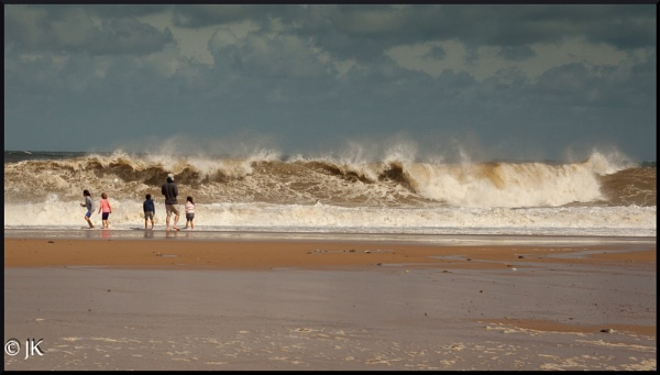 Watching the waves by BillyBunter