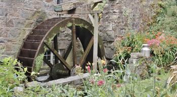 old mill wheel