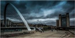 Millenium Bridge and Baltic Mill