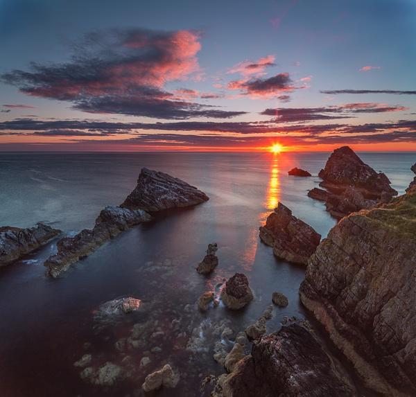 Sunrise at Portknockie rocks by Dallachy