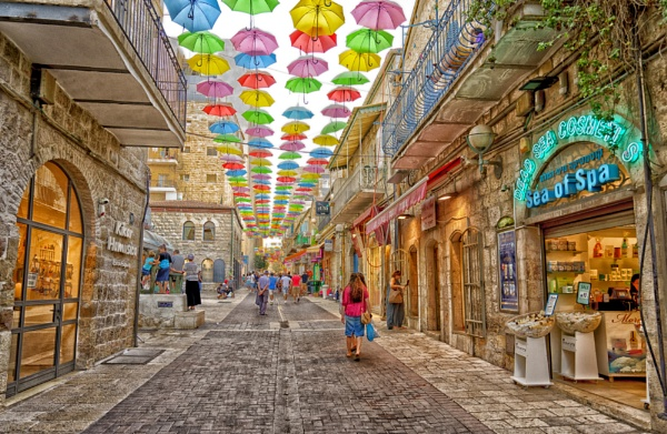 Umbrellas over Jerusalem by ubaruch