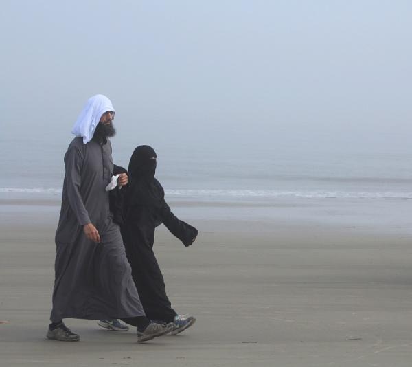 Walking on the beach by shirleyjrobinson