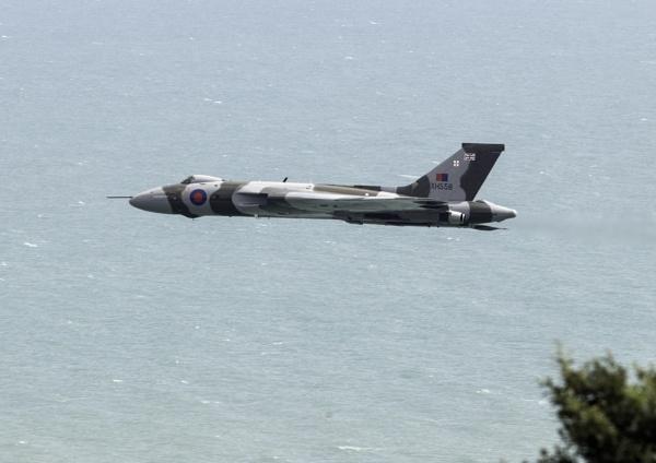 Avro Vulcan at Beachy Head by jimobee