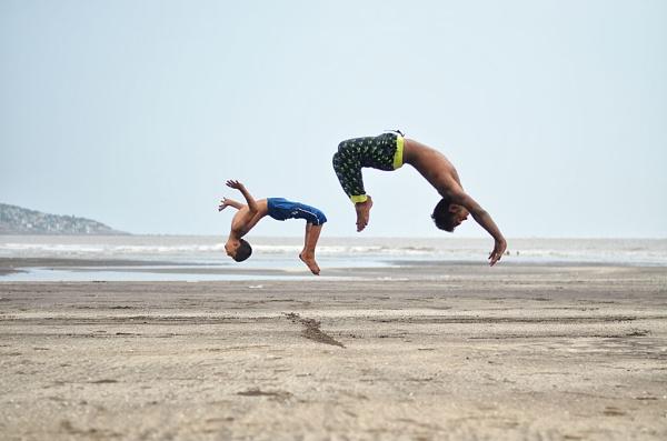 hip hop dancer vasai beach by tadphaleuday