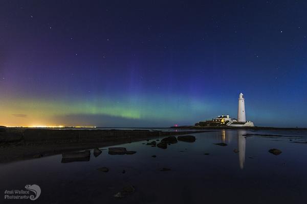 St Marys aurora moonlight by Angi_Wallace