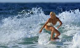Surfer Girl - (Tatiana Weston Webb) the colour version...
