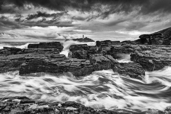 Stormy day at Godrevy by JenRogers