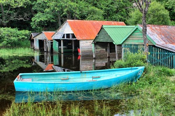 Boat Sheds  on Loch Ard by DanfromScotland