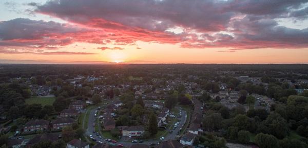 Sunset from 300 feet by MossyOak