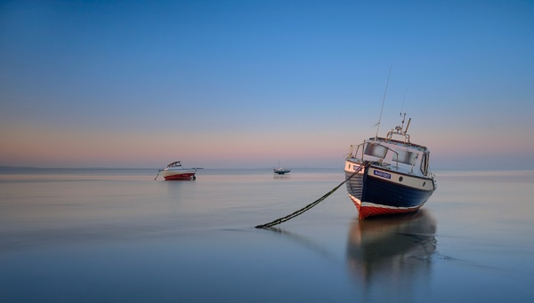Trio of boats by clive burrow