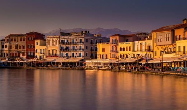Chania Harbour Sunrise Crete by Legend147
