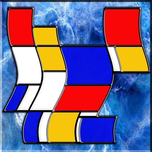 Mondrian in Motion 18 by Bonvilston