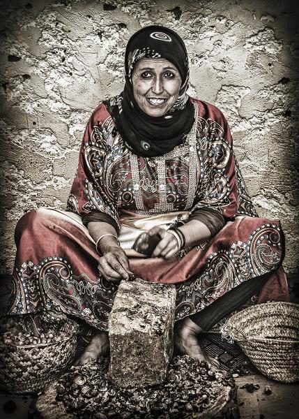 Berber Woman Making Argan Oil by BydoR9