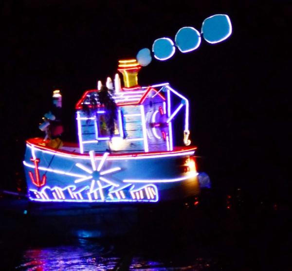 "Illuminated boat \""Steamboat Willie\"" on the river tonight at Matlock Illuminations, Derbys by pinkcamera"