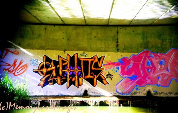Canal Graffiti by sheilarose