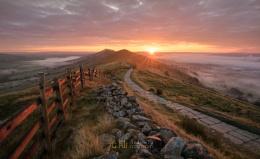 Dawn Breaks at Mam Tor, Peak District, Derbyshire