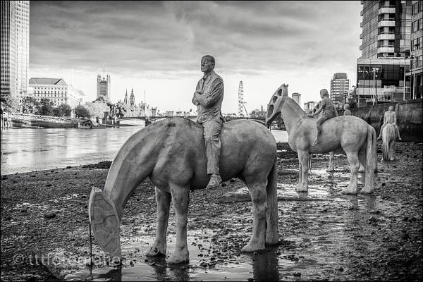 Horse sculptures at Vauxhall. by tttfoto