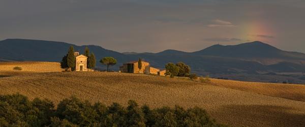 Chapel Vitaleta, Tuscany by cuffit