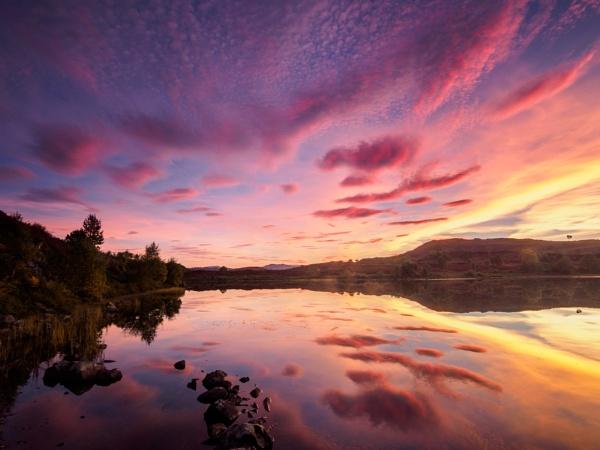 Loch Na Ba Ruaidhe Sunset by iainmacd