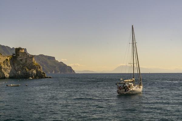 Yacht anchored off Amalfi by Casablanca2HB