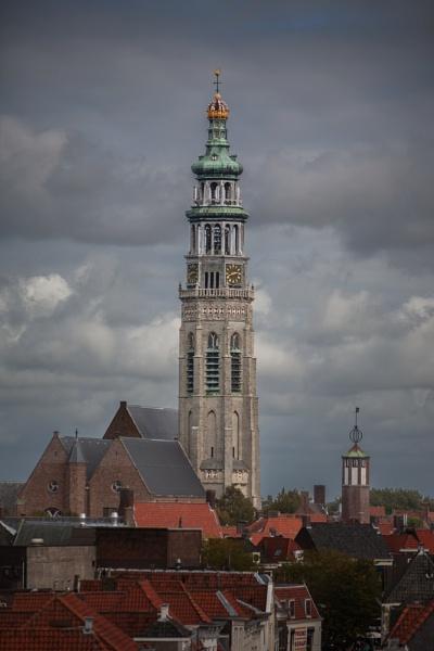"""Abbey tower \""""De lange Jan\"""" (the tall John) by kuipje"""
