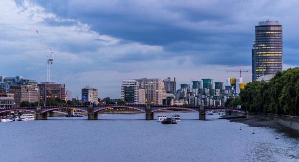 Lambeth Bridge & Vauxhall From Westminster Bridge by Chontrell